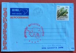 ANTARTIDE  SPEDIZIONE ANTARTICA ITALIANA AEREOGRAMMA DA CATHEDRAL SOUL N.Z. 3/3/1989 A GENOVA  IL20/4/89 - Francobolli