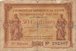 .D.18-2143 : CHAMBRE DU COMMERCE 50 CENTIMES.  DIJON. COTE-D'OR - Chambre De Commerce