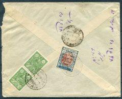 1926 Iran Persia Regne De Pahlavi Overprint Mixed Franking Cover. Bushire Bouchir - Iran