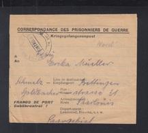 Frankreich France Kriegsgefangenpost 1946 Chantier 4003 Depot 31 Damigny - Poststempel (Briefe)