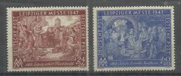 """Allierte Besetzungen Gemeinschaftsausgaben 941/942II"""" 2 Briefmarken Zur Leipziger Messe 47 Im Satz"""" Postfrisch Mi.:3,00 - Zone AAS"""