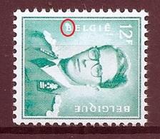 BELGIE Boudewijn Bril * Nr 1371  VLEK In B / TACHE Dans B * Postfris Xx * FLUOR PAPIER - 1953-1972 Lunettes