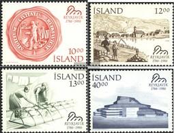Island 654-657 (completa Edizione) Usato 1986 Reykjavik - 1944-... Republik