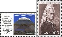 Island 586,587 (kompl.Ausg.) Gestempelt 1982 Konradsson, Persönlichkeiten - 1944-... Republik