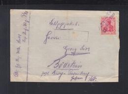 Dt. Reich Feldpost Päckchen-Abschnitt - Germania