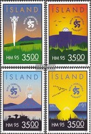 Iceland 820-823 (complete Issue) Unmounted Mint / Never Hinged 1995 Handball-WM The Men - 1944-... Republic