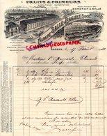 49- ANGERS- BELLE FACTURE ALBERT SALLE-BAGUET-BORDRON-FRUITS PRIMEURS-39- RUE DUPETIT THOUARS- 1923 - Alimentare