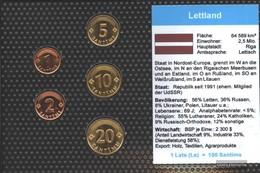 Lettland Stgl./unzirkuliert Kursmünzen Stgl./unzirkuliert 1992-2000 1 Santims Bis 20 Santimu - Lettonie