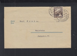 Dt. Reich Drucksache 1938 Mannheim Flugplatz - Briefe U. Dokumente