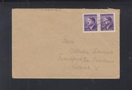 Dt. Reich Böhmen Und Mähren Brief 1943 RAD 4/385 Olmütz - Besetzungen 1938-45