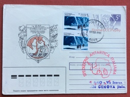 ANTARTIDE  SPEDIZIONE ANTARTICA ITALIANA  BUSTA POSTALE RUSSIA  DA ROSS A GENOVA - Francobolli
