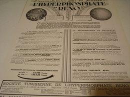 ANCIENNE PUBLICITE L HYPERPHOSPHATE DE RENO 1941 - Tracteurs