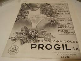 ANCIENNE PUBLICITE PRODUIT AGRICOLE PROGIL 1941 - Tractors