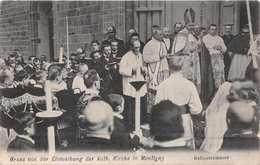 MONTIGNY FRANCE~GRUSS Von EINWEIHUNG Der Kath. KIRCHE-KRAYMEYER PHOTO POSTCARD 33225 - Montigny Le Bretonneux