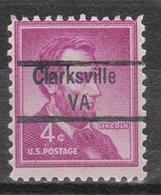 USA Precancel Vorausentwertung Preo, Locals Virginia, Clarksville  843 - Vereinigte Staaten