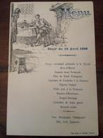 Menu In Francese 19 Aprile 1898 - Menus
