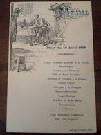 Menu In Francese 19 Aprile 1898 - Menú