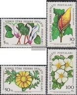 Türkisch-Zypern 110-113 (kompl.Ausg.) Postfrisch 1982 Feldblumen - Ungebraucht