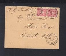 Dt. Reich Brief 1887 Calbe Nach USA - Briefe U. Dokumente