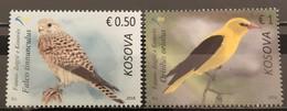 Kosovo, 2018,Fauna,Birds,Falco,Oriolus (MNH) - Kosovo
