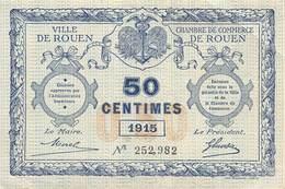 .D.18-2154 : CHAMBRE DU COMMERCE 50 CENTIMES.  ROUEN. SEINE-MARITIME - Chambre De Commerce