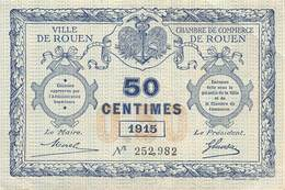 .D.18-2154 : CHAMBRE DU COMMERCE 50 CENTIMES.  ROUEN. SEINE-MARITIME - Chamber Of Commerce
