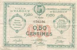 .D.18-2155 : CHAMBRE DU COMMERCE 50 CENTIMES.  ELBEUF. SEINE-MARITIME - Chambre De Commerce