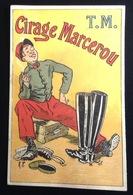 Cirage Marcerou  Joli Chromo Calendrier Illustrateur Militaire Bottes 1898 - Calendars