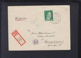 Dt. Reich Österreich R-Brief Saxen Nach Coswig - 1918-1945 1. Republik