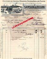 49- ANGERS- FACTURE SAMSON & FILLON- GRAINES POTAGERES- FLEURS-HORTICULTEUR HORTICULTURE-33 RUE DUPETIT THOUARS-1914 - Agriculture