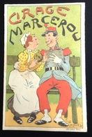 Cirage Marcerou  Joli Chromo Calendrier Illustrateur Le Moel  Militaire Nourrice  1899 - Petit Format : ...-1900