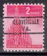 USA Precancel Vorausentwertung Preo, Locals Virginia, Cloverdale 821 - Vereinigte Staaten