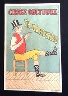 Cirage Marcerou  Joli Chromo Calendrier Illustrateur Le Moel  ? Homme Chaise  1898 - Calendriers