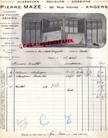49-  ANGERS- FACTURE PIERRE MAZE-MANUFACTURE CLASSEURS-RELIEURS-LE FAVORI ARCHIVIS-RARE  36 RUE VOLNEY- 1924 - Petits Métiers