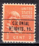 USA Precancel Vorausentwertung Preo, Locals Virginia, Colonial Heights 749 - Vereinigte Staaten