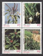 1997 India Medicinal Plants Health Complete Block Of 4  MNH - Iraq