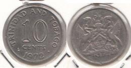 Trinidad & Tobago 10 Cents 1972 Km#3 - Used - Trindad & Tobago