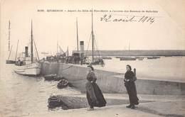 56-QUIBERON- ASPECT DU MÔLE DE PORT-MARIA, A L'ARRIVEE DES BATEAUX DE BELLE-ISLE - Quiberon