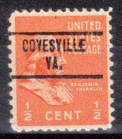 USA Precancel Vorausentwertung Preo, Locals Virginia, Covesville 734 - Vereinigte Staaten