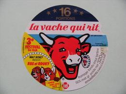 Etiquette Fromage Fondu - Vache Qui Rit - 16 Portions Bel Pub Rox Et Rouky Film Walt Disney  A Voir ! - Cheese