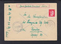 Dt. Reich Slowenien Slovenia Dienstpost Adria Gauleiter Gruppe Ost Brief 1945 Laibach - Officials