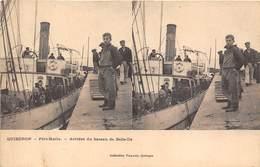 56-QUIBERON-PORT-MARIA, A L'ARRIVEE DU BATEAU DE BELLE-ILE - Quiberon