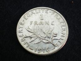FRANCE 1 FRANC SEMEUSE DE ROTY ARGENT 1916    (  Plbleu1/9  ) - France