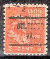 USA Precancel Vorausentwertung Preo, Locals Virginia, Culpeper 721 - Vereinigte Staaten