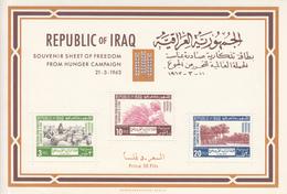 1963 Iraq Freedom From Hunger Agriculture Sheep Souvenir Sheet MNH - Iraq