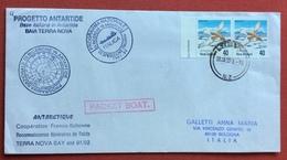 ANTARTIDE   BASE TALIANA  DI TERRA NOVA   ITALICA VII SPEDIZIONE DA LYTTELTON A BOLOGNA - Stamps