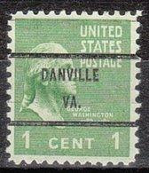 USA Precancel Vorausentwertung Preo, Bureau Virginia, Danville 804-71 - Vereinigte Staaten