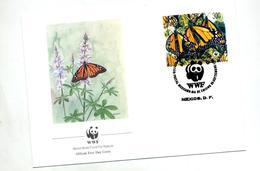 Lettre Fdc 1988 Papillon Wwf Panda - FDC