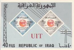 1965 Iraq ITU Imperf  Souvenir Sheet MNH - Iraq