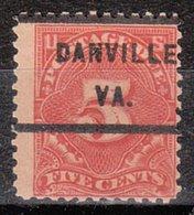 USA Precancel Vorausentwertung Preo, Locals Virginia, Danville J64-232 - Vorausentwertungen